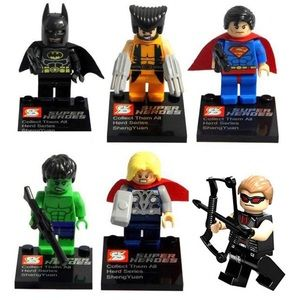 NWT! Mini Lego Super Hero Figurines